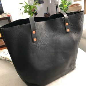 Black Leather Tote *Like new* KMM & Co.